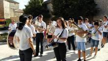 Resultado de imagen de La Banda de Música en la fiestas de SAN. Roque de Cervatos de la Cueza, Palencia