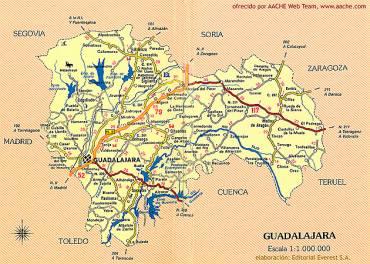 Mapa Provincia De Guadalajara.Guadalajara Es La Sexta Provincia Con Menor Tasa De Paro En